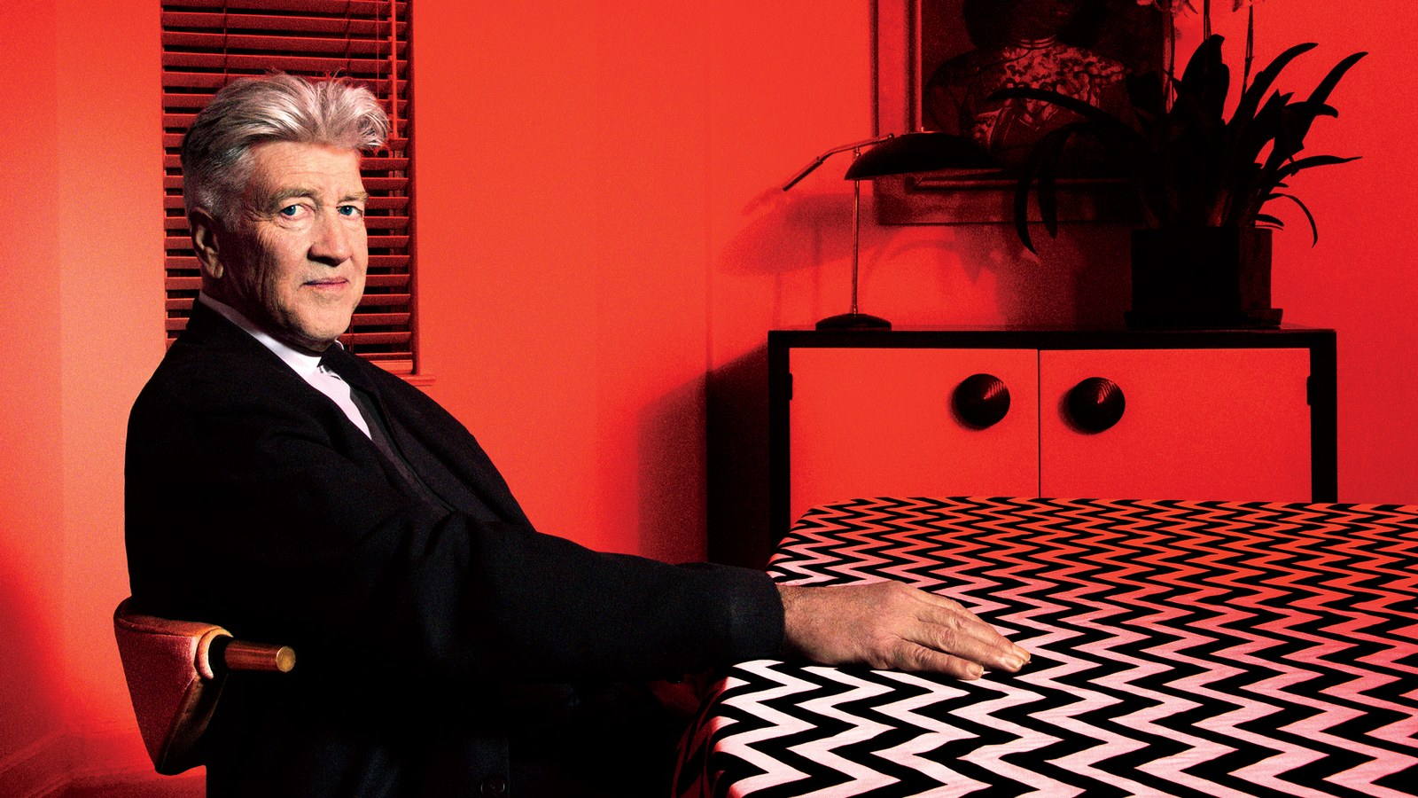 David Lynch photographed for GQ magazine, March 2017